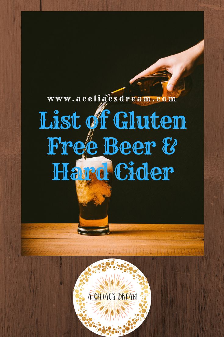 a list of gluten free beer & hard cider – a celiac's dream