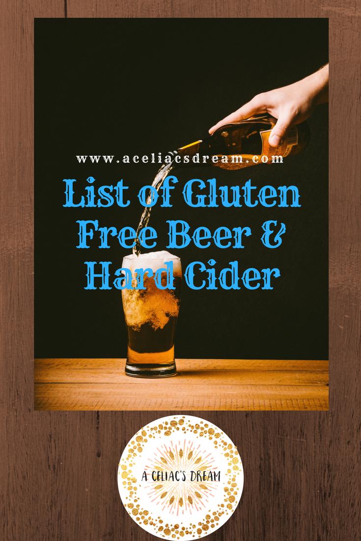 a list of gluten free beer & hard cider – a celiac's dream
